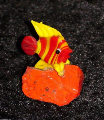 FISCH GLAS MINIATUR GLASFISCH Kunsthandwerk Aquarium Deko Handarbeit Sammeln