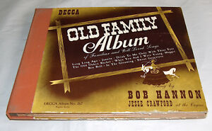 Decca Records Sung by Bob Hannon Jesse Crawford Organ Old