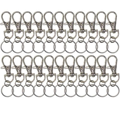20pcs Set Keychains Alloy Swivel Lobster Claw Clasp Lanyard Snap Car Key Hooks