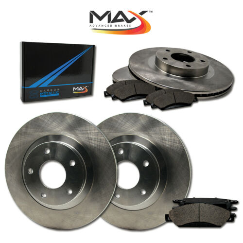 Front + Rear Rotors w//Metallic Pad OE Brake Kit