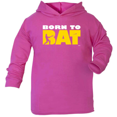 Born To Bat Cricket Funny Baby Infants Cotton Hoodie Hoody