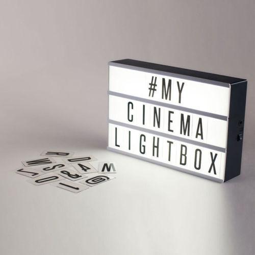 Light Up Boîte aux lettres Home Cinéma DEL SIGNE MARIAGE FÊTE CINEMA plaque Shop A6