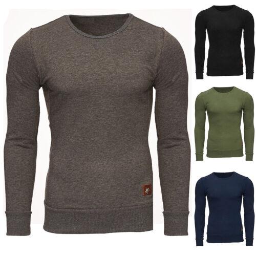 Reslad Felpa Uomo-Pullover Look Basic-Maglia Maglione Pullover rs-1032 NUOVO