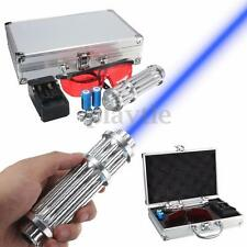 NEW High Power Laser Pointer Beam Pen 5 Head+Case+Battery+Charger+Goggles 5MW