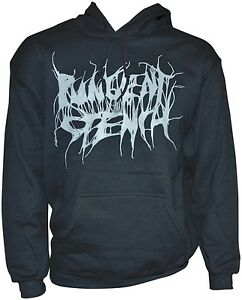 PUNGENT-STENCH-Grey-Logo-Black-Gildan-Hooded-Sweatshirt-M-Medium-164153