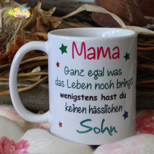 Tasse//maman peu importe ce que la vie apporte-fils//Cadeau Fête des Mères Noël