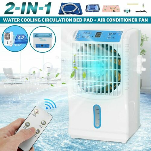 Air Conditioner Fan Cooler Remote 2 in 1 Water Cooling Bed Ice Pad Mat Cushion
