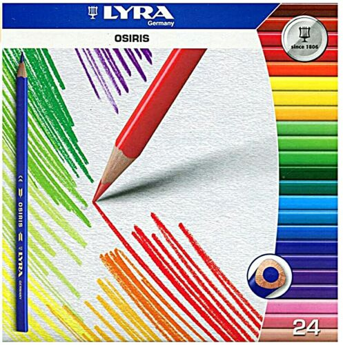 24 x Lyra Osiris color pencils  QUALITY GERMAN TRIANGULAR COLOUR PENCILS