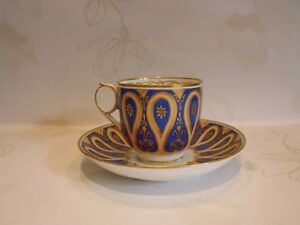Details About Antique English Mid Victorian Coffee Cup Saucer Bowl Possibly Davenport 1850
