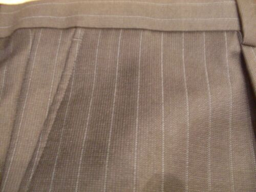 COLLEZIONE W42 L33 BNWT M /& S MEN/'S 100/% WOOL TROUSERS NAVY PIN