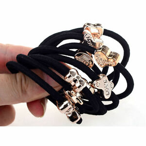 Lots-of-10pcs-Elastic-Hair-Ties-Band-Ropes-Ring-Ponytail-Holder-Accessories