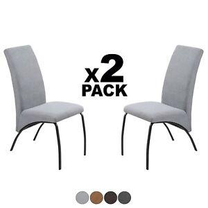 Detalles de Pack 2 sillas modernas para comedor salón, en tejido o símil  piel, Mine