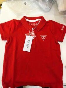 innovative design 3f7d6 2df25 Dettagli su Polo Guess Rossa Bambino