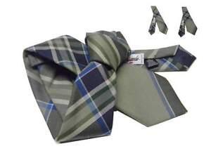 Inquiet Cravatta A Quadri Tartan Style Beige Verdino Blu Azzurro Anche Slim Produire Un Effet Vers Une Vision Claire