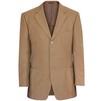 ERMENEGILDO ZEGNA Soft $1995 camel cotton diagonal twill blazer jacket 40/50 NEW