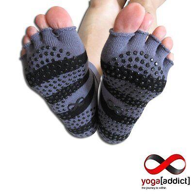 Grippy Toeless Socks, 2 Pairs Set, For Yoga and Pilates, Non Slip Skid Socks