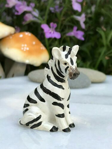 Miniature FAIRY GARDEN Terrarium Accessories ~ Mini SAFARI Animal ZEBRA