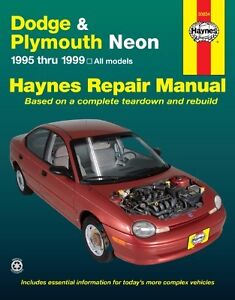 haynes chrysler neon 1994 1999 repair manual workshop service dodge rh ebay com au chrysler neon repair manual pdf chrysler neon repair manual free download