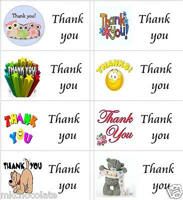 40 x Thank you Teacher A labels//stickers for cake//sweets//presents//gift bags
