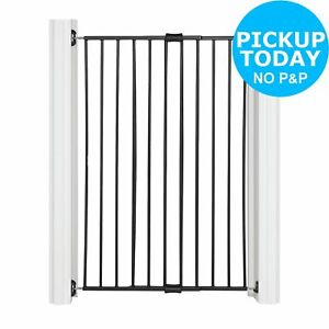 Extra Tall Extending 60-97cm Metal Pet Gate - Black. 6970783370048