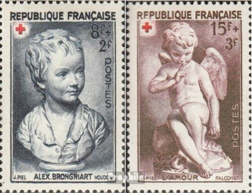 France 894895 complete issue unmounted mint never hinged 1950 Red Cross