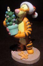 RARE Disney Store Tigger Winnie the Pooh Christmas Tree Santa Claus Figure