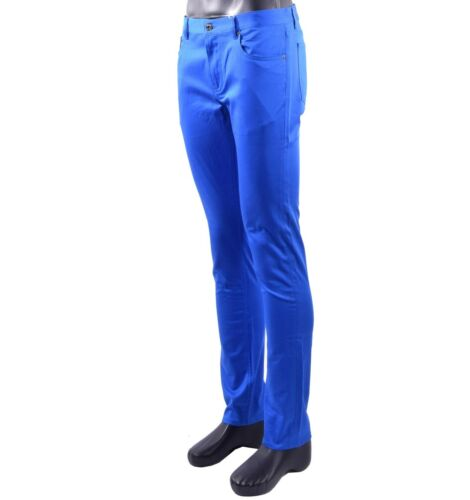 MOSCHINO COUTURE Slim Fit Jeans Style Trousers Pants Blue 05420