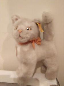Steiff-Katze-wiess-grau-Sulla-ca-16-cm-Nr-2735-16-gebraucht