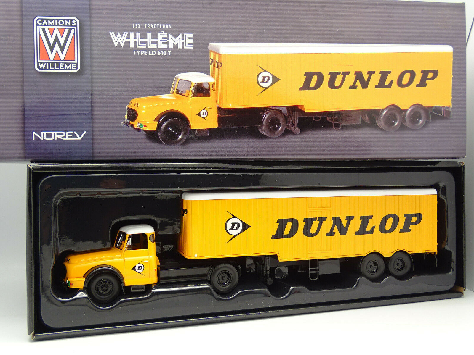 Norev 1 43 - willeme ld 610 semi trailer Dunlop