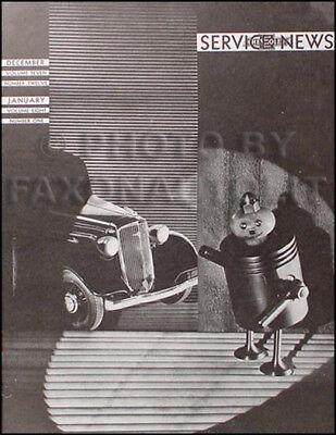 1934 Chevrolet Servizio News Manuale -accessories Braccio Freno Regolazione Ecc.