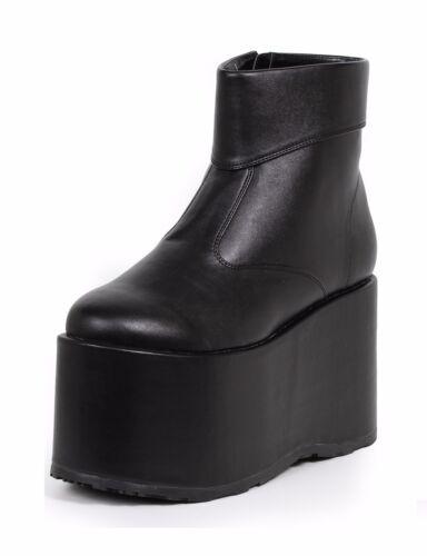 Black KISS Gene Simmons Munsters Platform Costume Boots Shoes Mens size 11 12 13