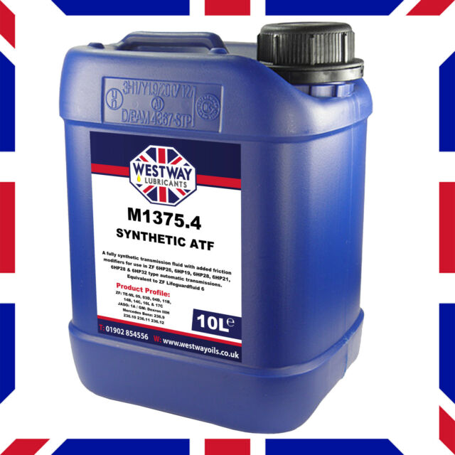 10l ATF M1375 4 LifeGuardFluid 6 Equivalent ZF Transmission Fluid 10 Litres