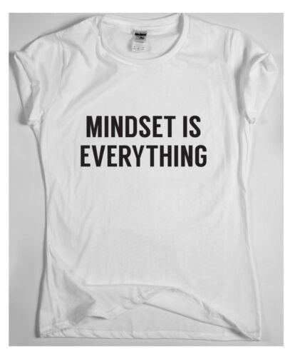 MINDSET IS EVERYTHING motivational t shirt training sport money running tee win