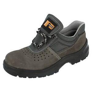 Details about Ladies Panda Grey Lace Up Safety Shoes - Lambda - 6611