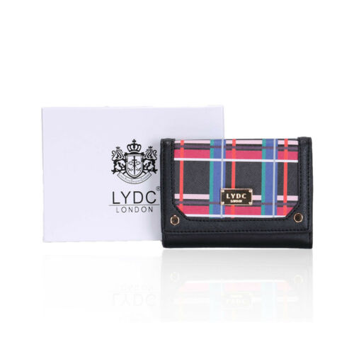 LYDC London Designer Geometric Multicolour Mini Clutch//Purse with Gift Box