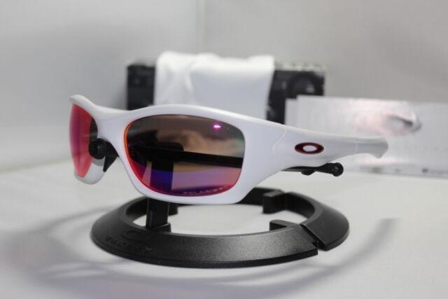 69bb20486b4 Oakley Pit Bull Polarized Sunglasses Matte White OO Red Iridium Asian