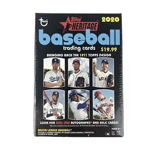 2020 Topps Heritage Baseball Blaster Box 72 Cards Factory Sealed Box