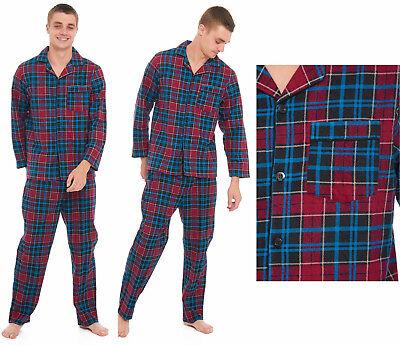 Hiver Hommes Flanelle Pyjamas Ensembles Casual Chaud Thermique Bouton Sleepwear M-2XL