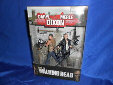 Walking Dead Daryl & Merle Dixon Set Signed by Michael Rooker Act Figures 2013