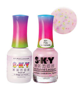 SKY Matching Soak Off Gel Polish and Nail Lacquer set for Manicure ...