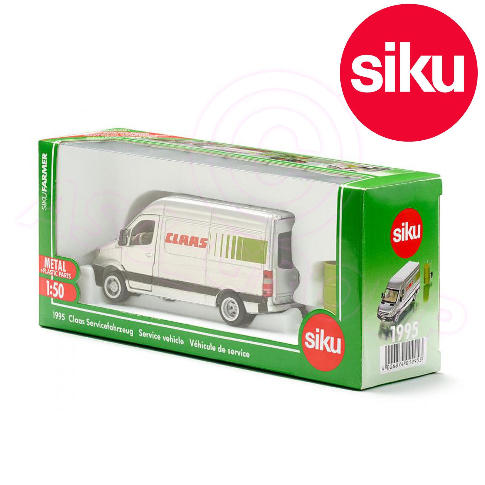 Siku 1995 1995 1995 Claas Service Fahrzeug Mercedes Sprinter Van Fass Einkaufswagen 1 50 744597
