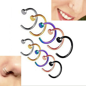 1Pc-Small-Thin-316L-Surgical-Steel-Open-Nose-Hoop-Ring-Piercing-Stud-Jewellery