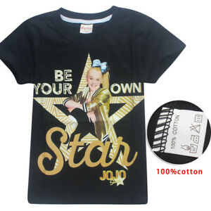 NWT-JoJo-Siwa-Girls-Top-Short-Sleeve-T-Shirt-Tee-Be-Your-Own-Star-Size-6-12