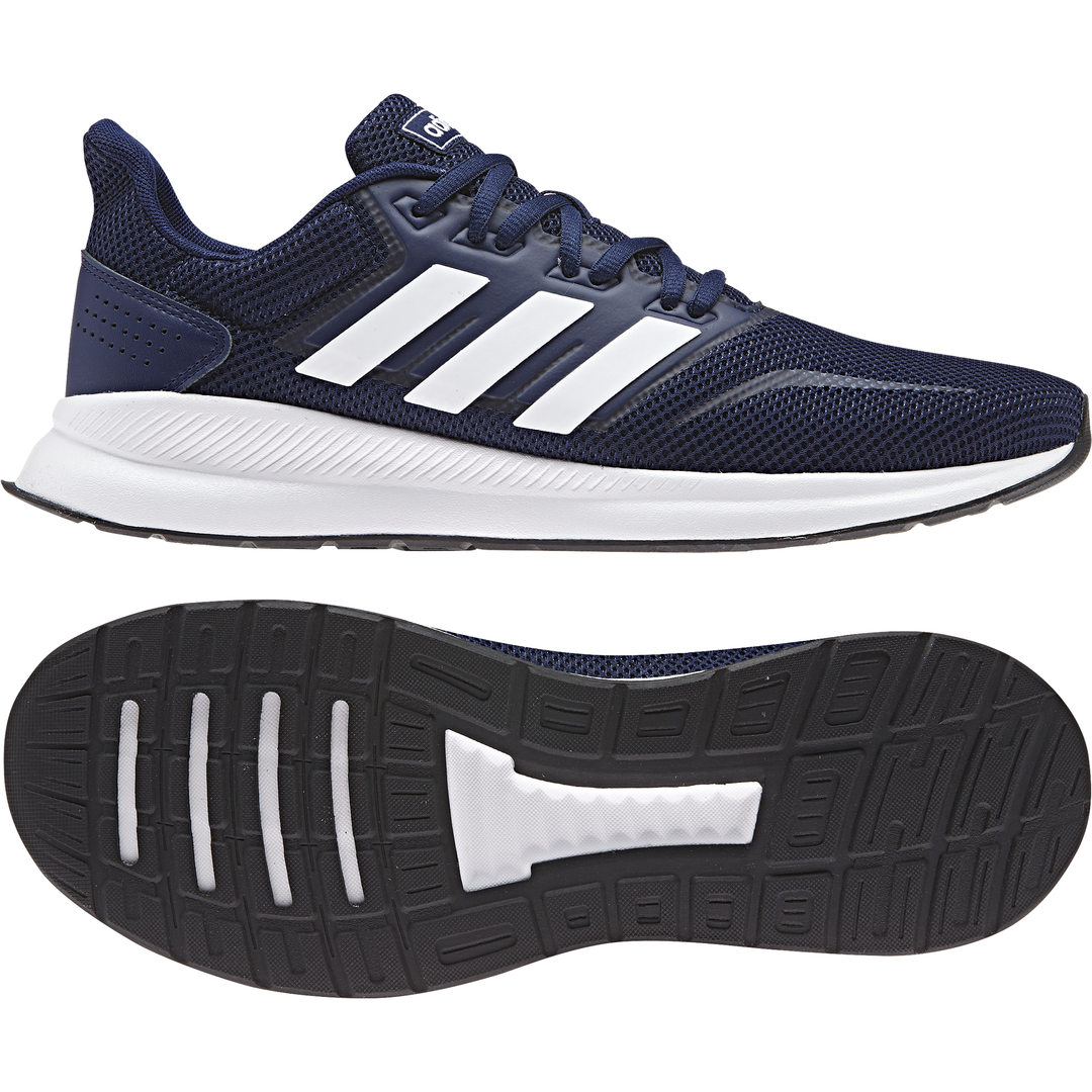 Adidas mens shoes running training workout runfalcon gym bluee f36201