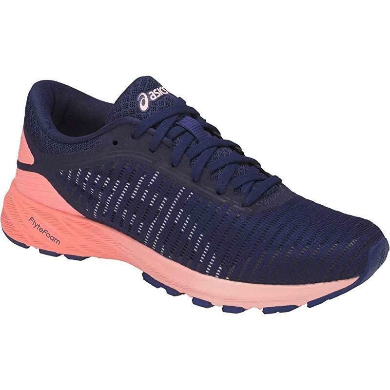 ASICS Women's Dynaflyte 2 Running Shoe, Indigo Blue/White/Begonia Pink, 7.5 (S)