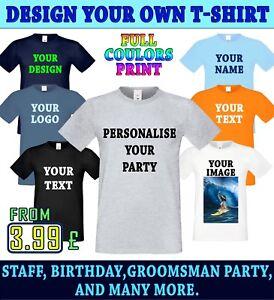 0b55450708425 Personalised Printing tshirt CustOm Men s Text Logo Image T-Shirt ...