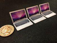 Dolls House Plastic Apple Macbook Air Laptop Miniature Model 1/12th Scale Mac