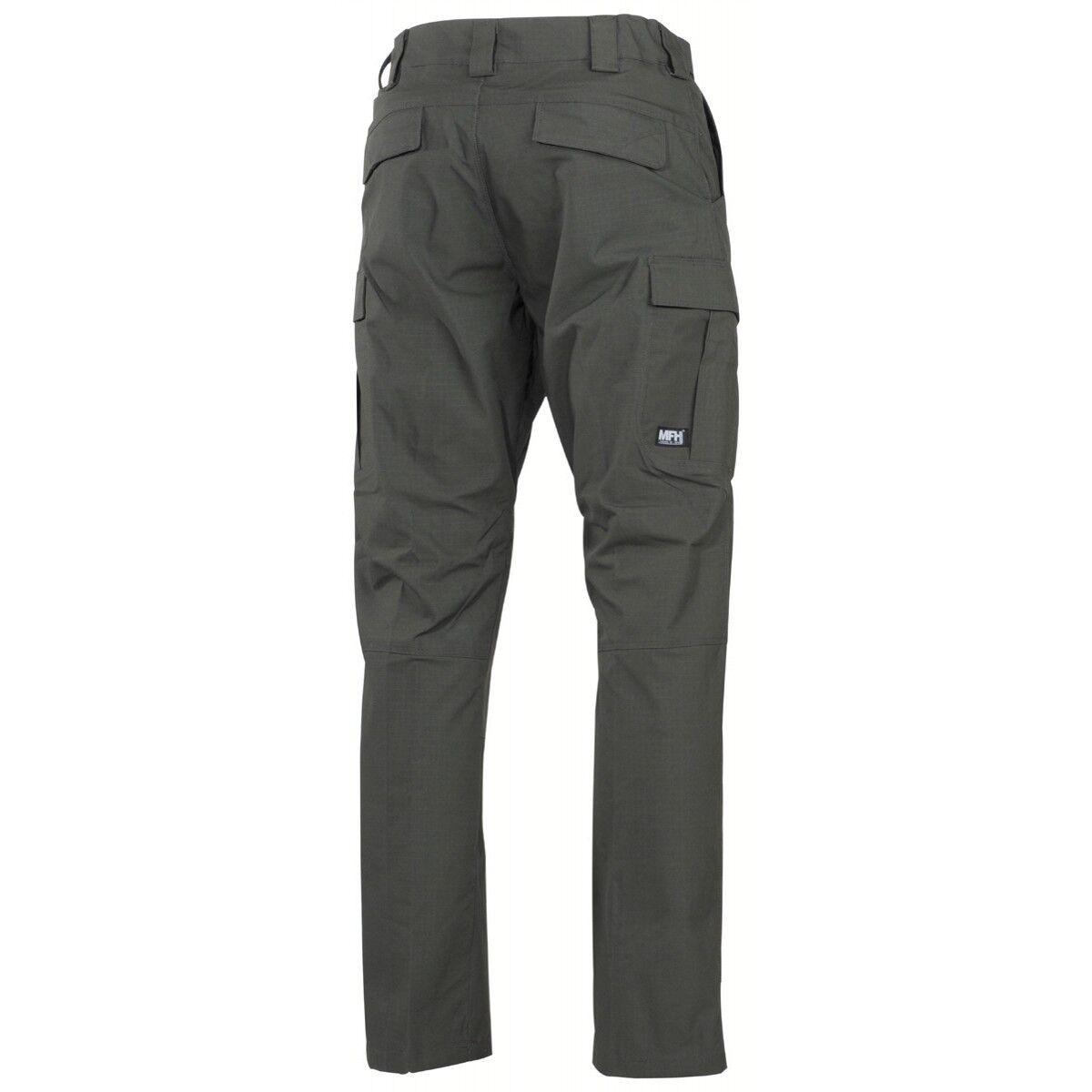Pantaloni Pants MFH Ripstop Teflon Lycra Lycra Lycra Impermeabili Caccia Outdoor Militare OD 6b4fd2