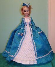 "Aqua & White 3 pc Marie Antoinette Gown for 16-17"" Bonnie Blue Doll BBHC03"