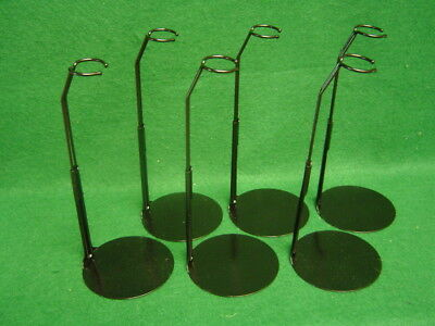 Doll Stands 6 Six Light Black metal for 7 to 8 inch Betsy McCall  Fashion Dolls